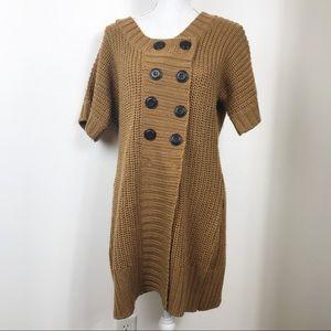 Soft Surroundings Brown Chunky Knit Long Cardi XL